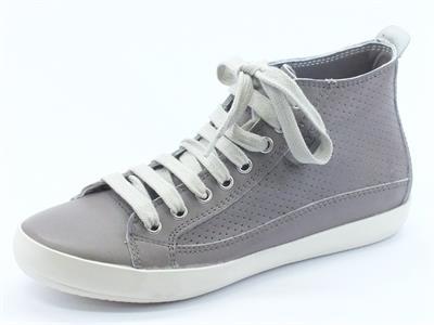 Sneakers basse Keys in pelle traforata taupe
