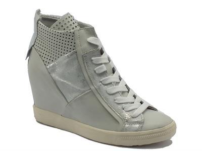 Sneakers CafèNoir per donna in pelle ghiaccio