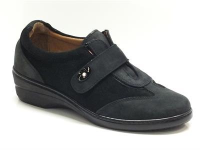 Sneakers Cinzia Soft per donna in camoscio nero