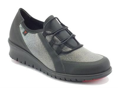 Sneakers Cinzia Soft per donna in tessuto tecnico nero