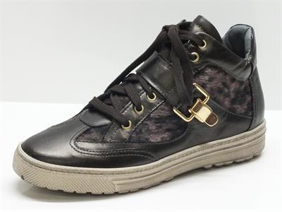 Articolo Sneakers Keys per donna in pelle bronzo