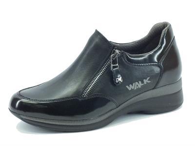 Articolo Sneakers Melluso Walk Techno Marina per donna in nappa ed abrasivato nero