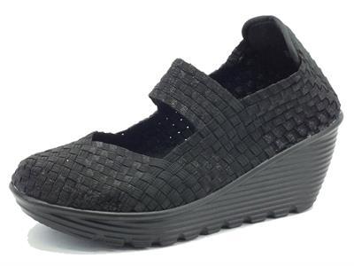 Sneakers Pregunta in tessuto elaticizzato nero