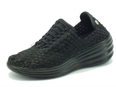 Articolo Sneakers Pregunta per donna in tessuto elasticizzato nero