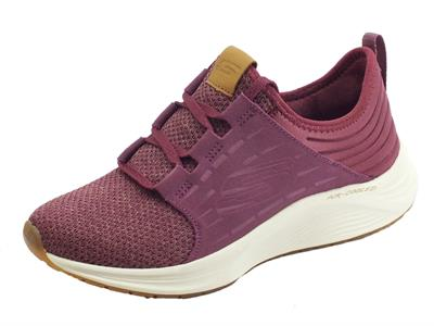 Articolo Sneakers Skechers SkyLine per donna in tessuto prugna air-cooled
