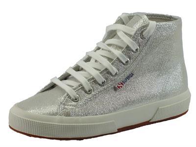 Articolo Sneakers Superga in tessuto satinato argento