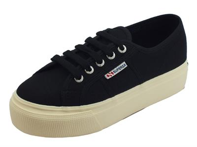 Articolo Superga 2790ACOTW Linea Up And Down Black donna sneakers sportive in tessuto nero