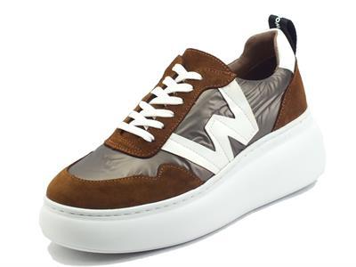 Wonders A-2605 Trend Cuero Sneakers per Donna in tessuto tecnico e camoscio