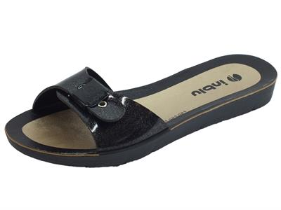 Articolo Ciabattine da bagno InBlu colore nero per donna con calzata regolabile