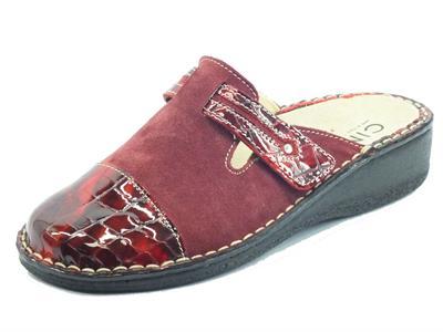 Articolo Cinzia Soft IM2020AH3 Rosso Rubino Pantofole per Donna in nabuk fondo shock-absorber