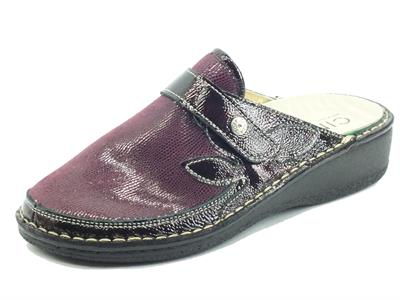 Articolo Cinzia Soft IM2977AHGM Bordò Pantofole per Donna in pelle e tessuto fondo shock-absorber