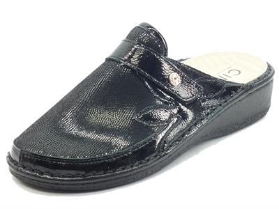 Articolo Cinzia Soft IM2977AHGM Nero Pantofole per Donna in pelle e tessuto fondo shock-absorber