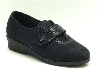Articolo Pantofole-Scarpe Melluso per donna in tessuto nero