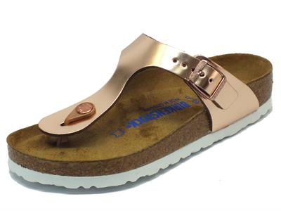 Infradito Birkenstock per donna Gizeh BS colore rame metallic copper