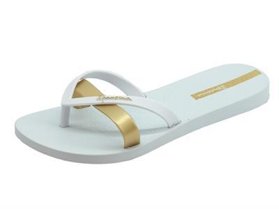 Articolo Ipanema 81805 Kirei Fem White Gold infradito in gomma bianco e gold