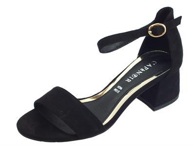 Articolo CafèNOIR sandali donna in tessuto colore nero tacco medio