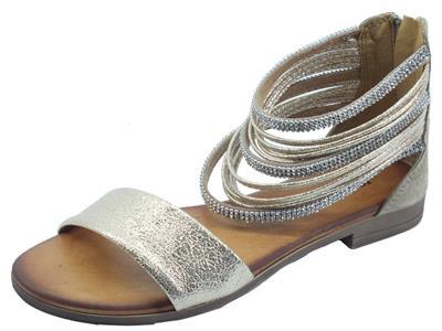Articolo Igi&Co 7176122 Scamosciato Laminato Taupe Sandali per Donna tacco basso con anelli