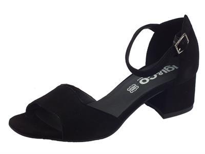 Articolo Igi&Co sandali donna in scamosciato nero tacco basso