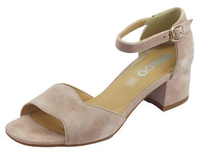 Articolo Igi&Co sandali donna in scamosciato rosa tacco basso