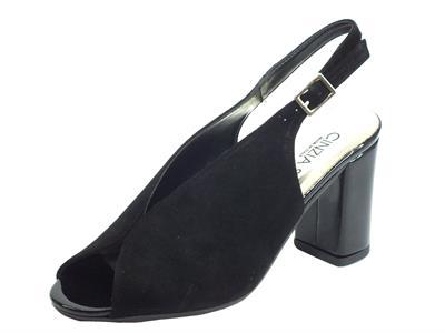 Articolo Cinzia Soft IBBF905 Camoscio Nero Sandali per Donna con tacco alto foderato