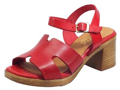 Articolo Cinzia Soft IEL869115T Rojo Sandali per Donna in pelle tacco alto e plateau