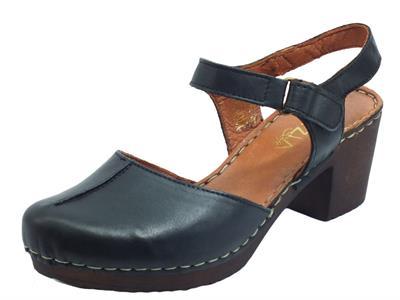 Articolo Cinzia Soft PQ5112732 Black Sandali per Donna in pelle con tacco e plateau