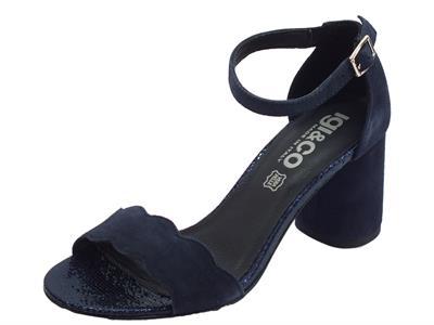 Articolo Igi&Co sandali eleganti donna in scamosciato blu notte tacco alto