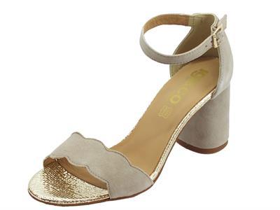 Articolo Igi&Co sandali eleganti donna in scamosciato taupe tacco alto