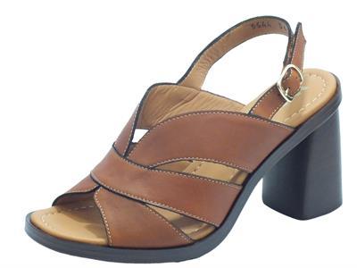 Articolo Melluso Walk R80320 Cuoio Sandali Donna in pelle tacco alto