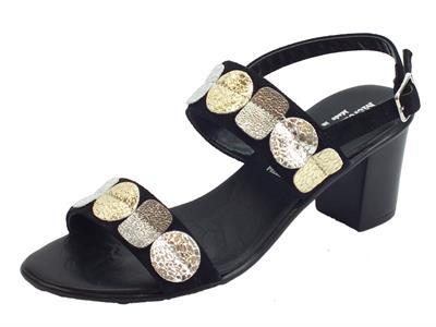 Articolo Sandali con tacco alto Mercante di Fiori in camoscio nero ed argento