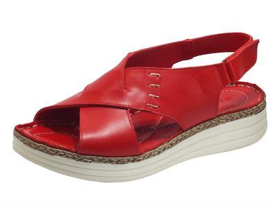 Articolo Susimoda 2898-14 Elba Rosso Sandali per Donna in pelle con chiusura a strappo