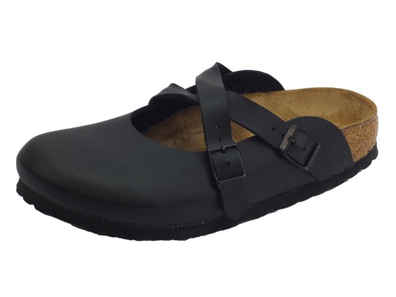 Birkenstock Dorian BS sandali zeppa bassa per donna nero
