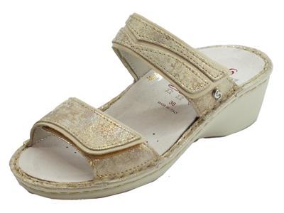 Articolo Sabatini Pepita sandali per donna in nabuk cangiante sottopiede estraibile
