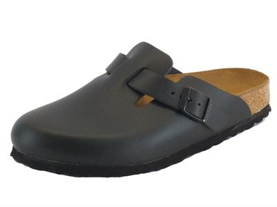 Sandali Boston Habana Birkenstock per donna in pelle colore nero