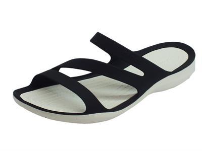 Articolo Sandali Crocs per donna SwiftWater Sanda in gomma nero e bianco