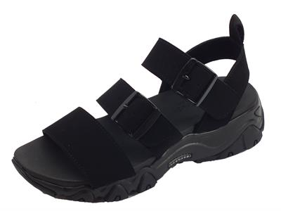 Articolo Skechers D'Lites 2.0 Cool Cosmos sandali sportivi per donna nere fondo yoga foam