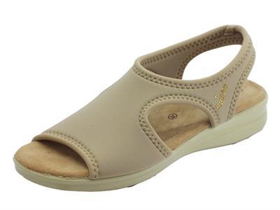 Articolo Susimoda sandali per donna in tessuto elasticizzato beige