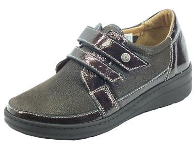 Articolo Cinzia Soft IM54018MVV Testa di Moro Sneakers Confort per Donna in pelle doppia chiusura lampo