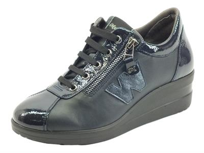 Articolo Melluso Walk R25826A Nrc Notte Sneakers Confort per Donna in pelle con lampo e lacci