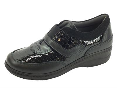 Articolo Sabatini S2902 Perlato Nero Sneakers confort Donna in pelle e vernice