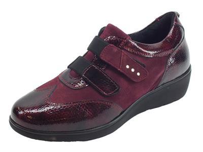 Articolo Sneakers Confort Sabatini per donna in vernice e camoscio bordeaux