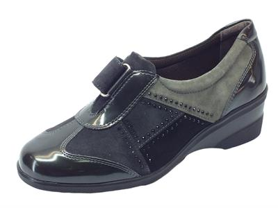 Articolo Sneakers Melluso linea Confort in pelle multicolore grigio con strappo