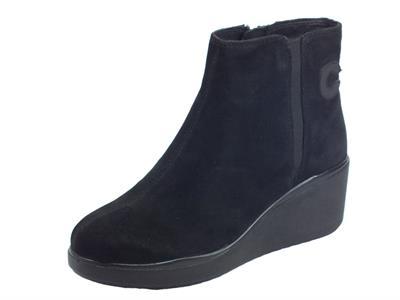 Articolo Cinzia Soft IV11809-GS 001 Black Tronchetti con zeppa per donna in camoscio