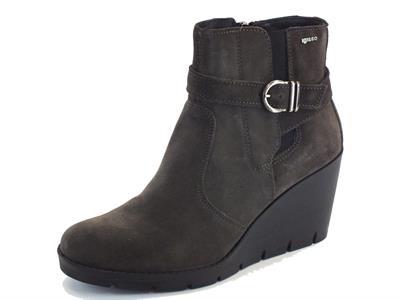 Tronchetti scamosciati Igi&Co per donna in camoscio grigio scuro zeppa alta