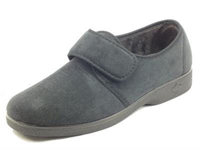 Articolo Mauri Moda by Cinzia Soft IEBT7891 Negro Pantofole per Uomo in tessuto caldo