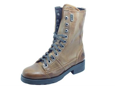 Articolo OXS 101167 Frank 1902 Mid W Leather Brown Anfibio per Donna in pelle