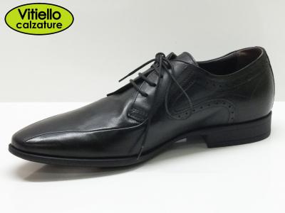Scarpe nero giardini per uomo modello classica sportiva in pelle nera vitiello calzature - Scarpe eleganti da cerimonia nero giardini ...