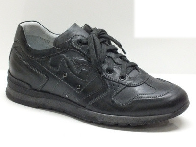 Scarpe per uomo Nero Giardini in pelle grigia con sottopiede estraibile