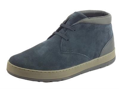 Articolo Geox U845QC Ariam Navy Sneakers Uomo in camoscio blu sottopiede estraibile