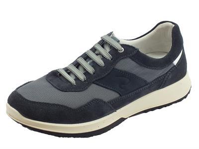 Articolo Grisport 43409V15 Deep Vesuvio scarpe uomo in nabuk e tessuto blu antistatica